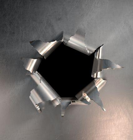 A metal hole burst