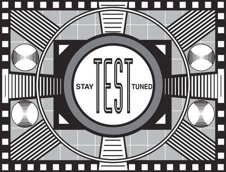 그 시대의 유사한 테스트 패턴을 모방 한 TV 방송 테스트 패턴