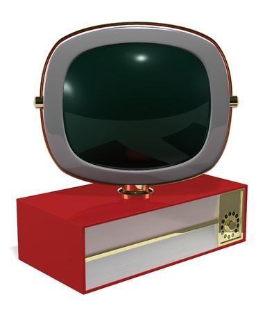 A Retro 50's/60's era television fashioned in the style of the Philco Predicta series Stock Photo - 7039744