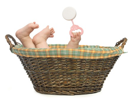 doorstep: Baby in Basket