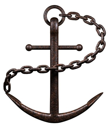 Sea Anchor on a white background photo