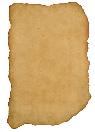 biblical: Ancient parchment fragment on rock background Stock Photo