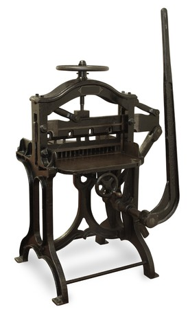 printing press: Vintage cast iron printing press