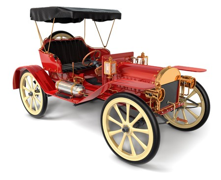 jalopy: 1910 style antique car