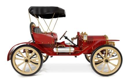 motor de carro: coche antiguo estilo de 1910 Foto de archivo