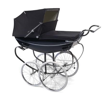 baby buggy pram on white Stock fotó