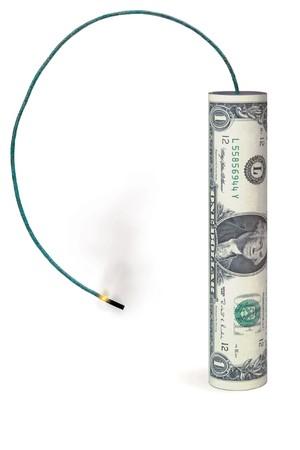 volatility: D�lar en forma de un petardo  Foto de archivo