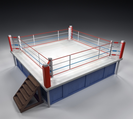 A 3d generated professional boxing ring photo