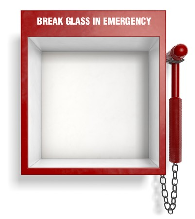 fire place: An empty fire extinguisher emergency box. Easily place your own objects inside!