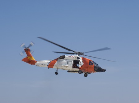 Uunited States Coast Guard helicopter Stock Photo - 7049656