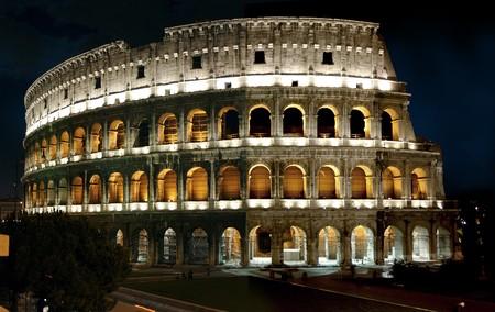 martyr: Romes colliseum at night                                Stock Photo