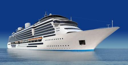 mares: lujo blanco crucero dispararon contra �ngulo a nivel del agua en un d�a claro con mar calma y cielo azul