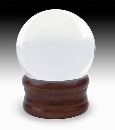 Crystal ball on gradient background Stock Photo - 7050234