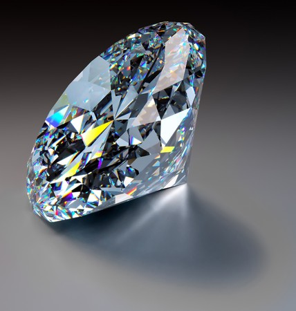 A close up of a diamond over a dark background