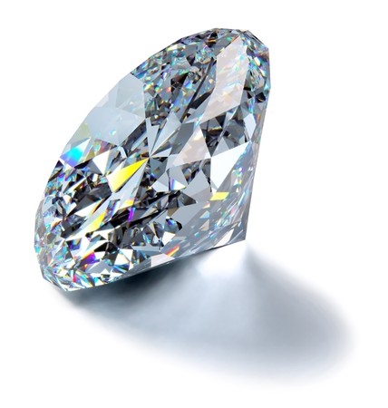 A close up of a diamond over a white background photo