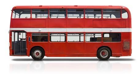 Roten Doppeldecker London-Bus, isoliert auf weiss Standard-Bild