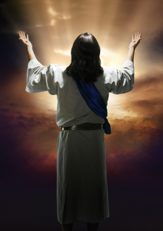 resurrecci�n: Imagen de Pascua de la resurrecci�n de Cristo  Foto de archivo