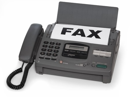 fax machine: fax machine isolated on white background Stock Photo
