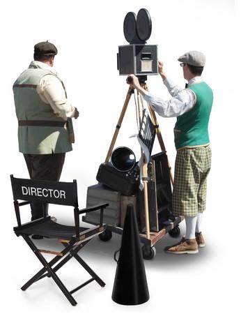 filmregisseur: Film productie Stockfoto