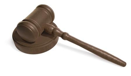 Judges Gavel on white background  Stock Photo - 7050792