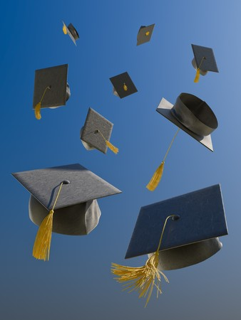 A skyfull of mortar boards. Stock Photo - 7058989