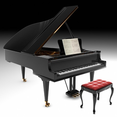 grand piano: A beautiful classic grand piano.