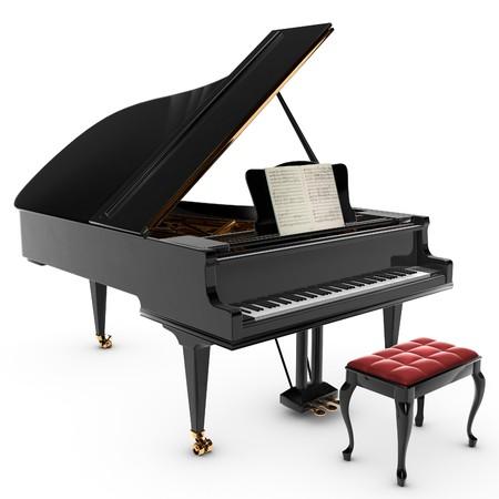 piano: Un hermoso pianio gran cl�sico, aislada en blanco.