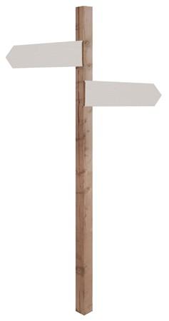 houten teken post met lege richting tekenen wijzen in tegengestelde richtingen