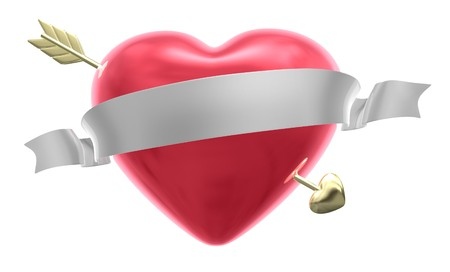 dimentional: Valentines Day Heart Stock Photo