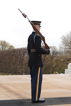 Honor Guard at Arlington Cemetery, Washington DC