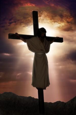 Jesus on the cross Stock Photo - 9519797