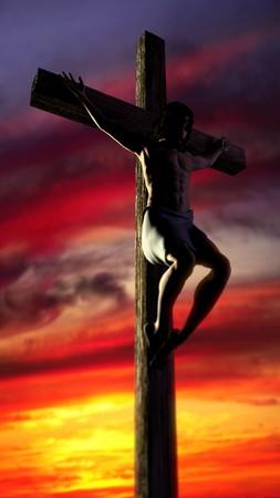 Jesus on Cross Reklamní fotografie - 9524920