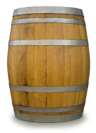Oak Barrel isolated on white photo