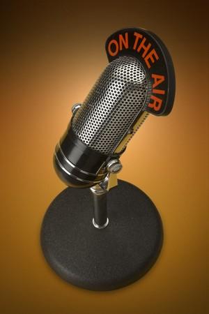 Vintage microphone  Stock fotó