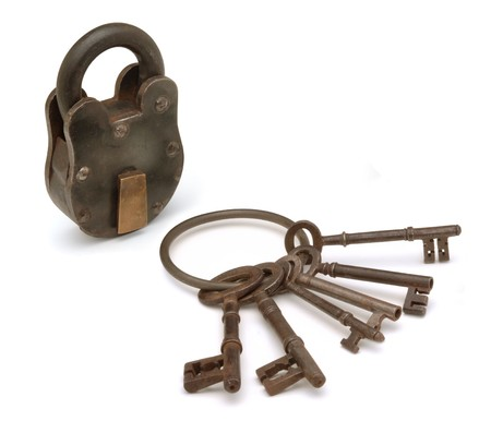 lock and keys on white 版權商用圖片 - 7049430