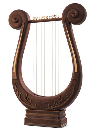 A Lyre Musical Instrument on white Stock Photo - 7059273
