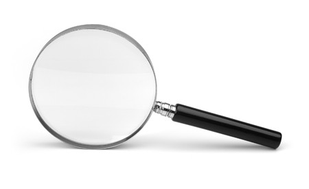 magnifying glass on white photo