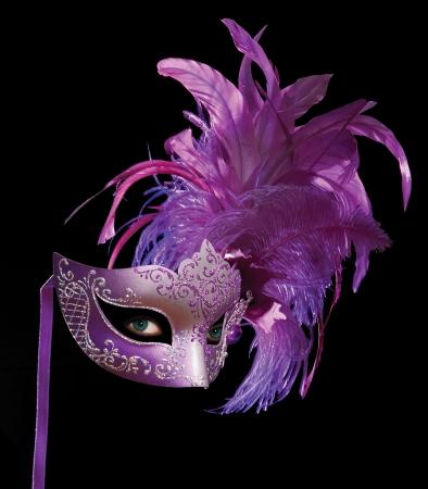 mascara de carnaval: M�scara adem�s de ojos sobre negro