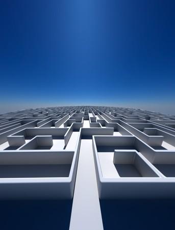 tu puedes: Alta resoluci�n arte 3d mostrando un laberinto como usted puede ver