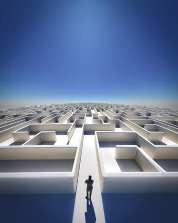loin: Haute r�solution 3d art montrant un labyrinthe, comme vous pouvez le voir