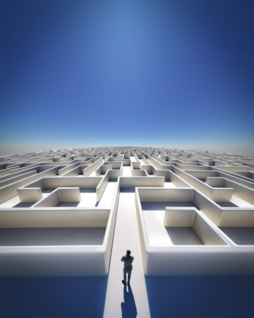 High Resolution 3d art showing a maze as far as you can see Stock Photo - 7052661