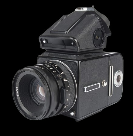 medium format camera shot from an isomorphic view Stock Photo