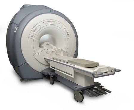 machines: Magnetic Resonance Imaging machine isolated on white