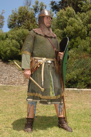 knight: Norman knight in chain mail