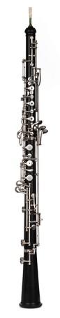 instrumentos musicales: oboe dispar� sobre fondo blanco