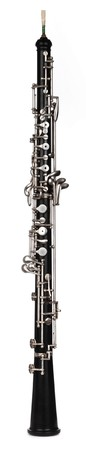 musical instruments: oboe shot on white background