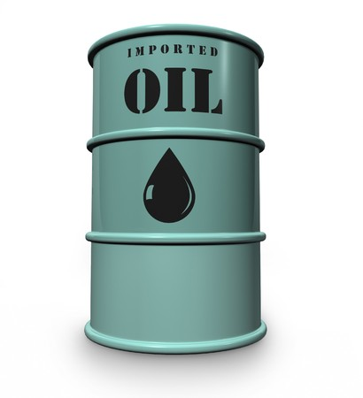 steel drum of imported oil photo