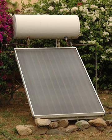 Passive solar hot water heater photo