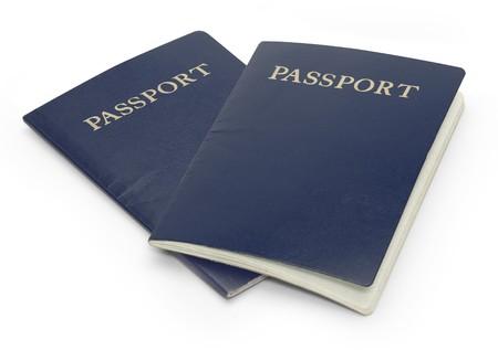 白い背景に分離された 2 つのパスポート 写真素材 - 7050074