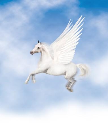 Pegasus fliegen Standard-Bild - 7050146